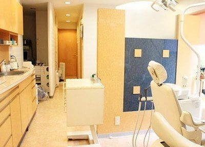 診療室です。清潔感があります。
