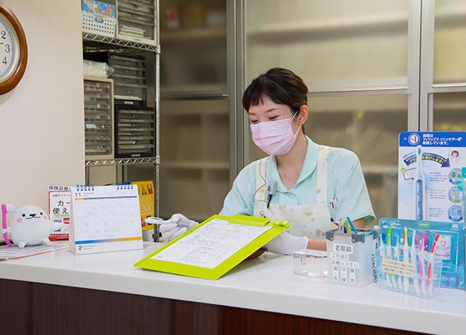 西院駅(阪急) 出口車 8分 中村歯科医院の受付の風景写真2