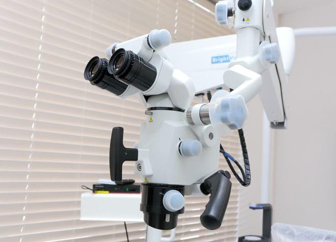 拡大鏡やマイクロスコープを使用!微小な病変の見落としも防ぐ