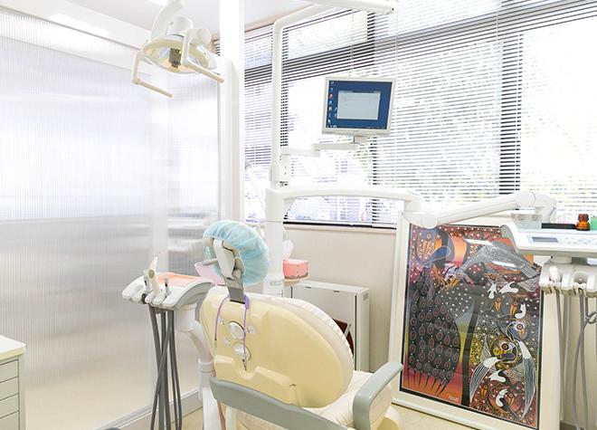 座り心地のいい診療台!患者さんが安らげるような雰囲気
