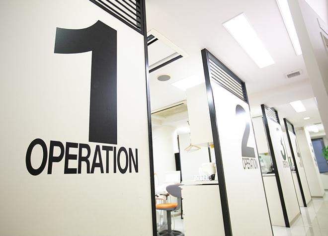 プライバシーが守られた半個室の診療室!相談しやすい環境