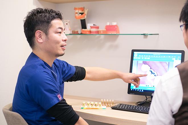 西京極駅 出口徒歩 10分 タキノ歯科医院のカウンセリングルームの風景写真6