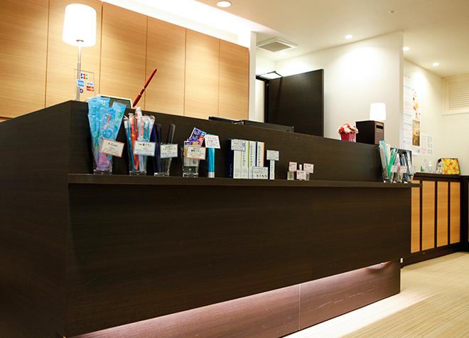 大森駅(東京都) 北口徒歩 1分 横須賀デンタルオフィスの受付の風景写真3