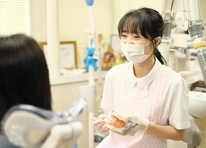 歯科衛生士が行うブラッシング指導!清潔なお口の維持につなげている