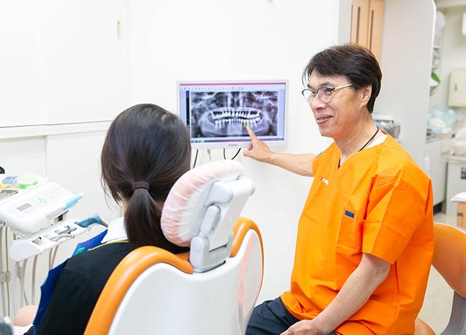 歯の模型や写真を使用!視覚的にもわかりやすい説明を心がける