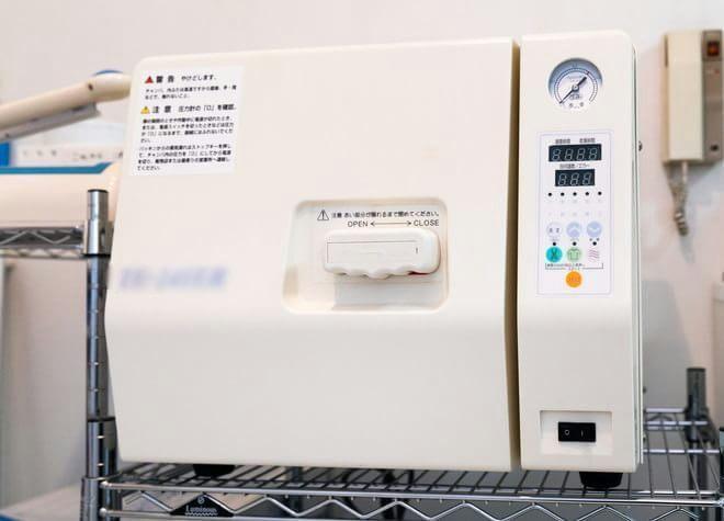 器具によって滅菌器を使い分け!二次感染を防ぐ