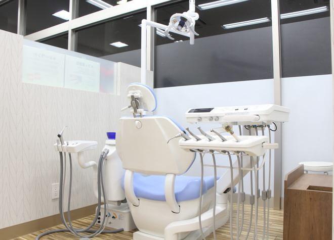 小山駅 西口徒歩 30分 おやまモール歯科の治療台写真3