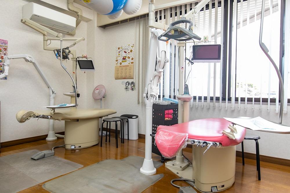 小児歯科専用の診療室を設置!楽しく通える工夫
