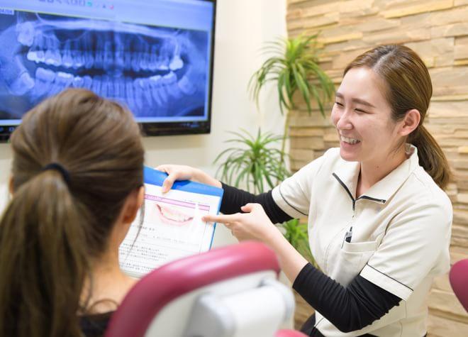 歯科衛生士は担当制!親しみやすい対応が◎