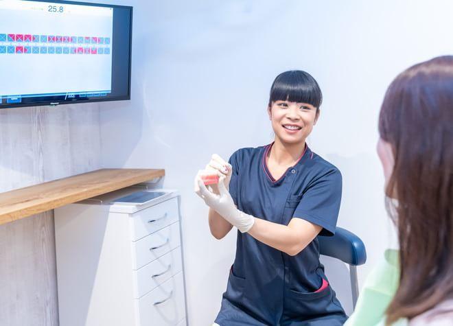 歯並びに合わせたブラッシング指導でセルフケアをサポート